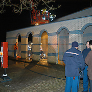 NLD/Huizen/20080318 - Aangestoken brand in de Turkse moskee Selimiye Gooierserf Huizen