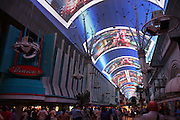The Fremont Street Experience lightshow in downtown Las Vegas, Nevada.