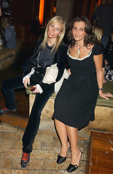 Left to right, MARGARITA WENNBERG and ELLA KRASNER at a party hosted by Daniella Helayel of fashion label ISSA held at Taman Gang, 141 Park Lane, London on 15th February 2006.<br /><br />NON EXCLUSIVE - WORLD RIGHTS