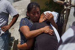September 10, 2017 - Oaxaca, Mexico - People mourn for the victims from an 8.1 earthquake that struck off the southern coast of Mexico . (Credit Image: © El Universal via ZUMA Wire)