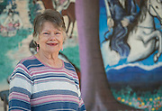 Jeannie Gayle poses for a photograph at Herrera Elementary School, February 13, 2015.