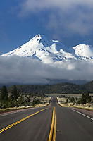 Mount Shasta, stratovolcano in the Cascade Range. Elevation 14,179 ft (4,322 m)