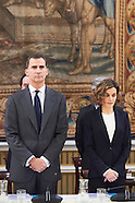121415 Spanish Royals attends a Meeting of the Board of the Foundation Princess of Girona