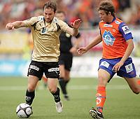 Fotball<br /> 10. August 2008<br /> Tippeligaen<br /> Aalesund - stabækk 1-2<br /> <br /> Veigar pall gunnarsson - stabækk<br /> Jonatan tollås - aalesund<br /> <br /> <br /> Foto: Richard Brevik , Digitalsport