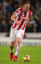 Stoke City's Charlie Adam during the Premier League match at the bet365 Stadium, Stoke.