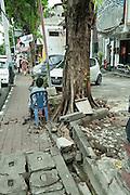 More care needed walking in Denpasar, Bali
