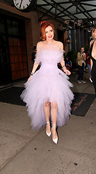 Bella Thorne in a tulle dress at New York Fashion Week. 08 Sep 2017 Pictured: Bella Thorne. Photo credit: Said Elatab / MEGA TheMegaAgency.com +1 888 505 6342