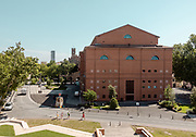 ITALY, RIMINI, view of the back of teatro Galli from the castle
