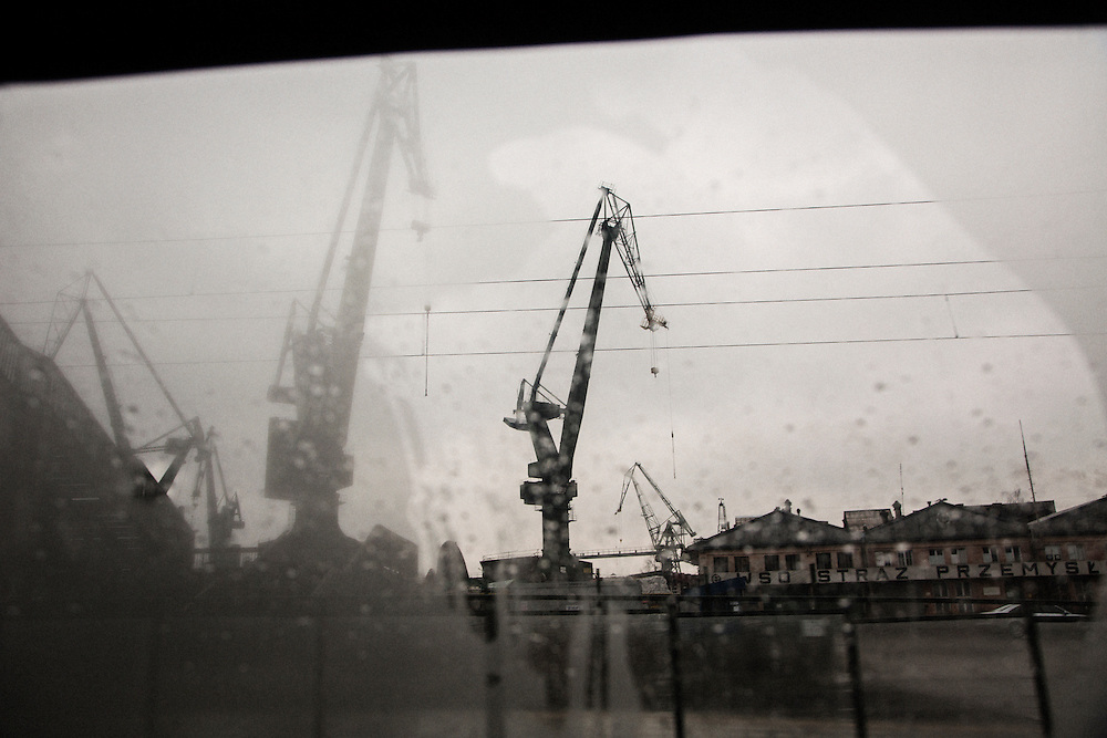 The iconic cranes of the Gdansk shipyard.<br /> <br /> Gdansk and Remontowa Shipyards