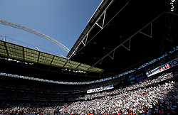 A general view of Fulham supporters in the stands before the match begins