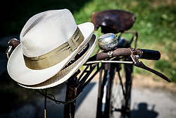 Hats and old bicycle during 3rd Stage of 26th Tour of Slovenia 2019 cycling race between Zalec and Idrija (169,8 km), on June 21, 2019 in Slovenia. Photo by Matic Klansek Velej / Sportida