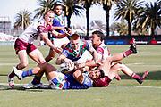 Adam Keighran dives over to score. Vodafone Warriors v Manly Sea Eagles. NRL Rugby League, Central Coast Stadium, Gosford, NSW, Australia, Sunday 27th September 2020 Copyright Photo: David Neilson / www.photosport.nz