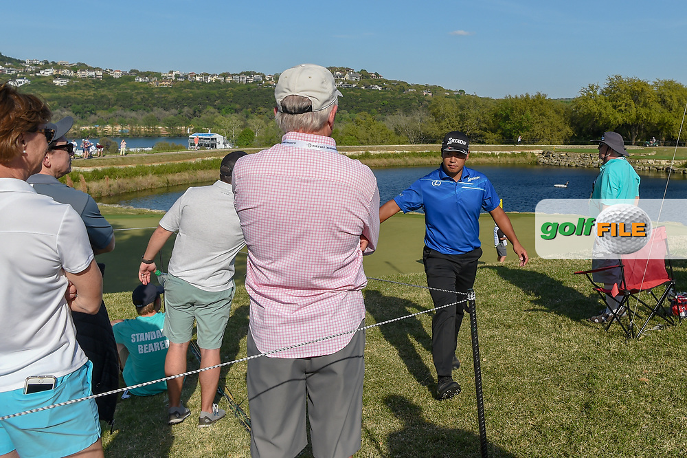Hideki Matsuyama (JPN) makes his way to the tee on 12 during day 1 of the WGC Dell Match Play, at the Austin Country Club, Austin, Texas, USA. 3/27/2019.<br /> Picture: Golffile | Ken Murray<br /> <br /> <br /> All photo usage must carry mandatory copyright credit (© Golffile | Ken Murray)