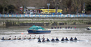 Putney. LONDON. GREAT BRITAIN. Both Crews racing along Putney embankment [Hard] Oxford [for ground], . Pre Boat race Fixture, Oxford University Women's Boat Club vs Molesey Boat Club, over the Championship Course, Putney to Mortlake.<br /> <br /> Sunday  28.02.2016<br /> <br /> [Mandatory Credit; Peter SPURRIER/Intersport Images]
