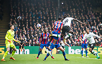 LONDON, ENGLAND - MARCH 31: (19) Sadio Mané of Liverpool score goal disallowed by ref during the Premier League match between Crystal Palace and Liverpool at Selhurst Park on March 31, 2018 in London, England.