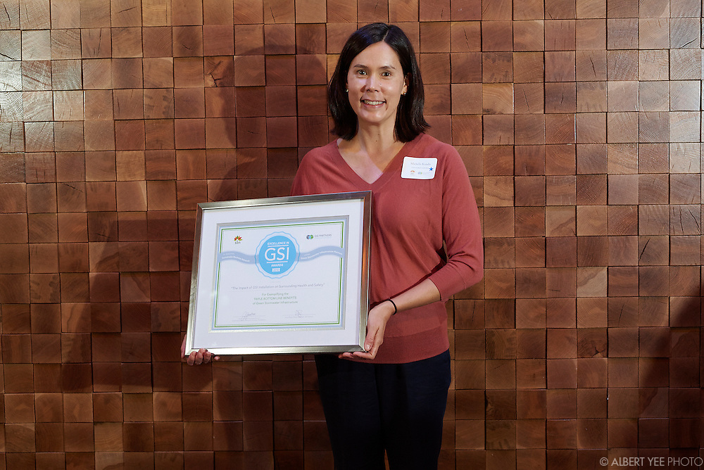 Winner of the Research category: The Impact of GSI Installation on the Surrounding Health and Safety:<br /> Michelle Kondo<br /> <br /> Held at the WHYY Public Media Commons<br /> March 31, 2016