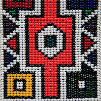Africa, South Africa. Traditional beaded art.