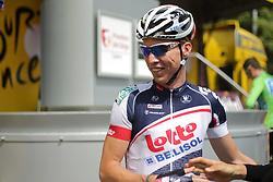 01.07.2012, Luettich, BEL, Tour de France, 1. Etappe Luettich-Seraing, im Bild SIEBERG Marcel (LOTTO - Belisol Team) // during the Tour de France, Stage 1, Liege-Seraing, Belgium on 2012/07/01. EXPA Pictures © 2012, PhotoCredit: EXPA/ Eibner/ Ben Majerus..***** ATTENTION - OUT OF GER *****