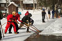 Rocky wold Deephaven Camps annual Ice Harvest event.  ©2018 Karen Bobotas Photographer