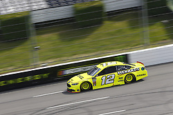 June 1, 2018 - Long Pond, Pennsylvania, United States of America - Ryan Blaney (12) brings his car down the frontstretch during qualifying for the Pocono 400 at Pocono Raceway in Long Pond, Pennsylvania. (Credit Image: © Chris Owens Asp Inc/ASP via ZUMA Wire)