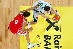 Erazem Lorbek of Slovenia vs Ante Tomic of Croatia at friendly match between Slovenia and Croatia for Adecco Cup 2011 as part of exhibition games before European Championship Lithuania on August 8, 2011, in SRC Stozice, Ljubljana, Slovenia. (Photo by Matic Klansek Velej / Sportida)
