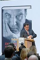 """26 OCT 2006, BERLIN/GERMANY:<br /> Gerhard Schroeder, SPD, Bundeskanzler a.D., schaut auf die Uhr, waehrend einer Pressekonferenz zur Vorstellung seines Buches """"Entscheidungen. Mein Leben in der Politik"""", Willy-Brandt-Haus<br /> IMAGE: 20061026-01-051<br /> KEYWORDS: Gerhard Schröder, Autobiografie, Biografie, Buch"""