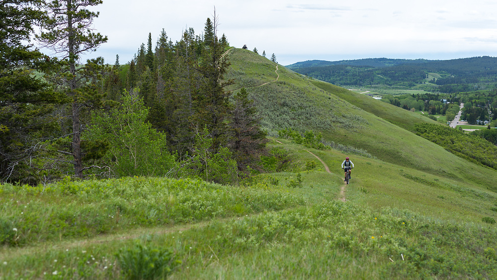 Mountain Biking Old Baldy Trail in Cypress Hills Provincial Park, Elkwater, AB
