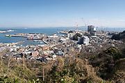 view of entrance to Tokyo bay at Kurihama city