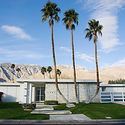 Palm Springs, CA is known for its mid-century modern architecture and examples of it are found throughout the city's neighborhoods. This private residence was designed by architect Stan Sackley. Several of Sackley's designed homes are located in Canyon Country Club neighborhood.