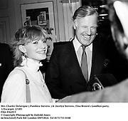 Mrs Charles Delevigne ( Pandora Stevens ) & Jocelyn Stevens. Tina Brown's Goodbye party. L'Escargot. 2/3/83<br /> Film 8362f15<br /> © Copyright Photograph by Dafydd Jones<br /> 66 Stockwell Park Rd. London SW9 0DA<br /> Tel 0171 733 0108