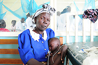 BILL WITH BERNARD AND HIS GRAN IN HOMA BAY HOSPITAL, HIS MUM HAS JUST DIED OF MAL-NUTRITION AND HIV.