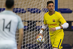 November 22, 2017 - Pescara, PE, Italy - Juan Jos Angosto Hernndez of FC Barcelona in action during the Elite Round of UEFA Futsal Cup 17/18 match between FC Barcelona and ZVV 'T Knoppount at Giovanni Paolo II arena on November 22, 2017 in Pescara, Italy. (Credit Image: © Danilo Di Giovanni/NurPhoto via ZUMA Press)