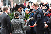 Werkbezoek van Zijne Majesteit de Koning, vergezeld door Hare Majesteit Koningin Maxima aan de Duitse deelstaten Thüringen, Saksen en Saksen-Anhalt<br /> <br /> Working visit of His Majesty the King, accompanied by Her Majesty Queen Maxima in the German states of Thuringia, Saxony and Saxony-Anhalt<br /> <br /> op de foto / On the Photo:  Gesprek met minister-president Ramelow locatie: Staatskanzlei /// Interview with Prime Minister Ramelow location: Staatskanzlei