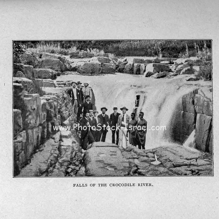 Falls of the Crocodile River, Transvaal from the book ' Boer and Britisher in South Africa; a history of the Boer-British war and the wars for United South Africa, together with biographies of the great men who made the history of South Africa ' By Neville, John Ormond Published by Thompson & Thomas, Chicago, USA in 1900