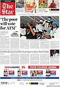 October 04, 2021 - AFRICA: Front-page: Today's Newspapers In Africa