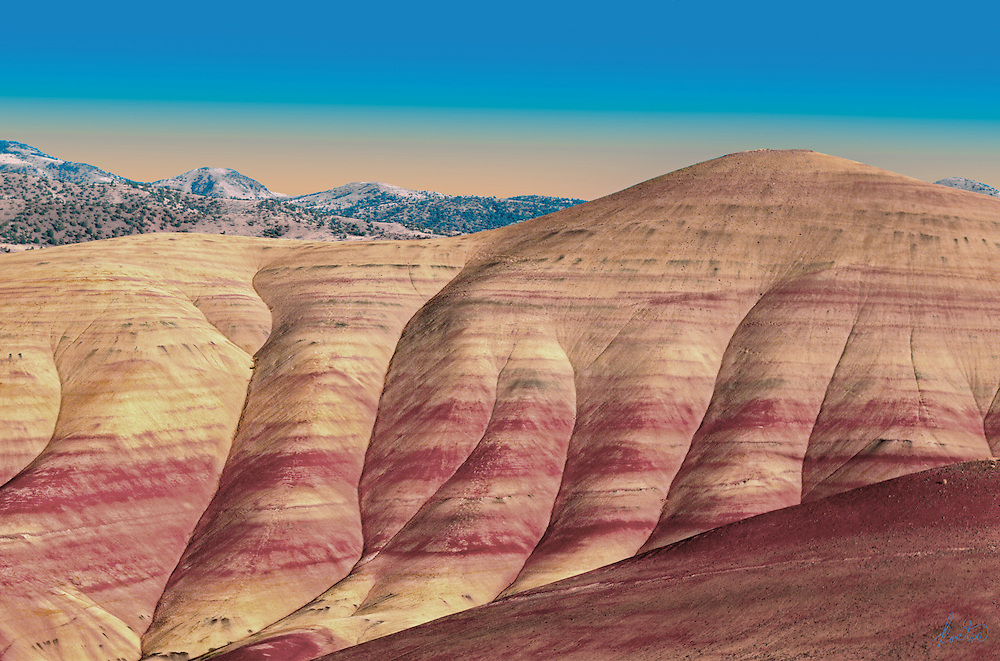 Painted Hills outside of Mitchell, in eastern Oregon, a natual phenomenon