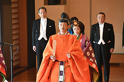 October 22, 2019, Tokyo, Japan: 22-10-2019 TOKYO Prince Akishino attend the enthronement ceremony where emperor officially proclaims his ascension to the Chrysanthemum Throne at the Imperial Palace in Tokyo..../pool (Credit Image: © face to face via ZUMA Press)
