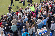 U.S. Rep. Mark Sanford answers questions during a second town hall meeting held on a football field after hundreds of constituents couldn't fit into the first event February 18, 2017 in Mount Pleasant, South Carolina. Hundreds of concerned residents turned up for the meeting to address their opposition to President Donald Trump during a vocal meeting held by U.S. Rep. Mark Sanford and Senator Tim Scott.