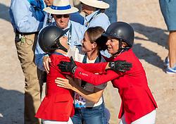 STERNLICHT Adrienne (USA), KRAUT Laura (USA)<br /> Tryon - FEI World Equestrian Games™ 2018<br /> FEI World Team Championships<br /> 2. Qualifikation Teamwertung 2. Runde<br /> 21. September 2018<br /> © www.sportfotos-lafrentz.de/Stefan Lafrentz