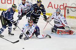 24.03.2015, Saturn Arena, Ingolstadt, GER, DEL, ERC Ingolstadt vs Iserlohn Roosters, Playoff, Viertelfinale, 7. Spiel, im Bild ERC Ingolstadt vs Iserlohn Roosters, Eishockey, DEL, Deutsche Eishockey Liga, 7.Playoff Viertelfinale Spiel, 24.03.2015, Foto: Eibner // during Germans DEL Icehockey League 7th quarterfinal match between xx at the Saturn Arena in Ingolstadt, Germany on 2015/03/24. EXPA Pictures © 2015, PhotoCredit: EXPA/ Eibner-Pressefoto/ Strisch<br /> <br /> *****ATTENTION - OUT of GER*****