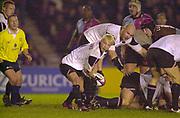 Twickenham, Surrey, 11th November 2002, Zurich Premiership Rugby, Stoop Memorial Ground, England,<br /> [Mandatory Credit: Peter Spurrier/Intersport Images],Zurich Premiership Rugby Harlequins v Saracens<br /> Morgan Williams