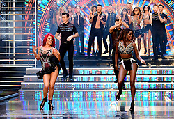 Dianne Buswell (left) and Oti Mabuse at the launch of Strictly Come Dancing 2018 held at The Broadcasting House, London.