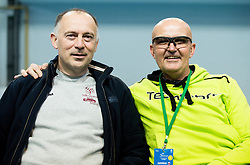 Matjaz Plejic and Saso Svoljsak during Day 3 of the tennis matches between Slovenia and Monaco of 2017 Davis Cup Europe/Africa Zone Group II, on February 5, 2017 in Tennis Arena Tabor, Maribor Slovenia. Photo by Vid Ponikvar / Sportida