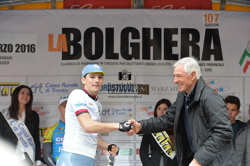107° Giro della Bolghera, Trofeo Italo Garbari categoria under 23, Marco Corrà e Francesco Moser, Trento 28 Marzo 2016 © foto Daniele Mosna