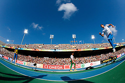 Athlete at warming up before the women's triple jump final at the 2010 European Athletics Championships at the Olympic Stadium in Barcelona on July 31, 2010.(Photo by Vid Ponikvar / Sportida)