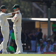 Ricky Ponting (left) and Michael Clarke during the Australia V Pakistan 2nd Cricket Test match at the Sydney Cricket Ground, Sydney, Australia, 6 January 2010. Photo Tim Clayton