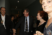 Richard Cork and Christopher Frayling, THE LOUISE T BLOUIN INSTITUTE OPENS WITH INAUGURAL EXHIBITION: James Turrell: A Life in Light Exhibition. OLAF ST. LONDON. 12 OCTOBER 2006.  -DO NOT ARCHIVE-© Copyright Photograph by Dafydd Jones 66 Stockwell Park Rd. London SW9 0DA Tel 020 7733 0108 www.dafjones.com