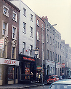 Old Dublin Amature Photos March 1983 WITH, Preretons Pawn Shop, Capel St, The Alcove, Ballsbridge, Donnollons Shop York Rd Dunlaire, Lodge BALLENTEER, Farm Gates, The Corner shop. Rathfarnham, School Inchicore, Quinns Butchers, Howth,