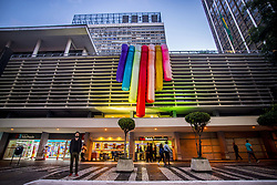 June 16, 2017 - SâO Paulo, São paulo, Brazil - About 3 million people are expected at the 21st edition of the LGBT Pride Parade in São Paulo, considered the biggest LGBT visibility event in the world, and it will take place this Sunday (18)..The event takes place from 12 noon to 6 p.m., in Avenida Paulista and surroundings, and this year will have as its theme Independence of our beliefs, no religion is law. All and all for a lay state. (Credit Image: © Cris Faga via ZUMA Wire)