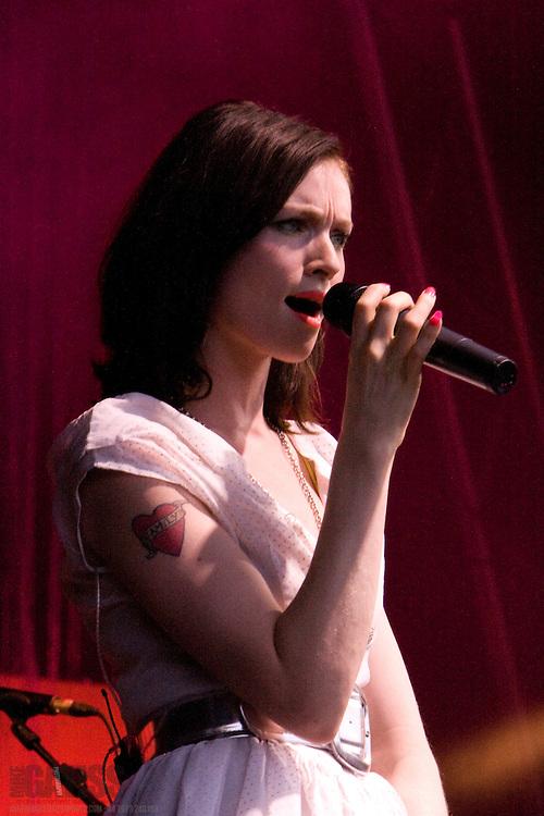 Sophie Ellis-Bextor performing live at Summer Sundae 2007 festival, De Montfort Hall, Leicester, United Kingdom, 11th August 2007
